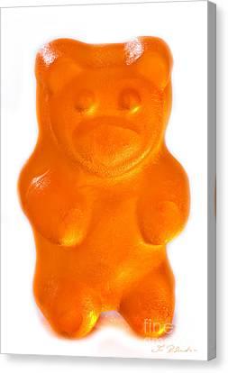 Orange Gummy Bear Canvas Print by Iris Richardson