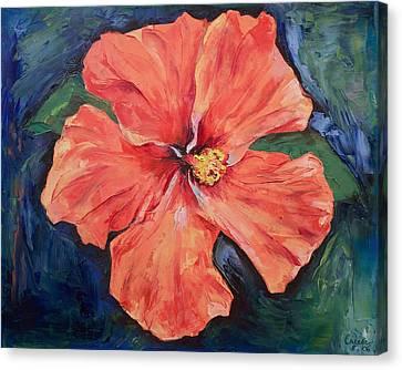 Hibiscus Canvas Print - Orange Hibiscus by Michael Creese