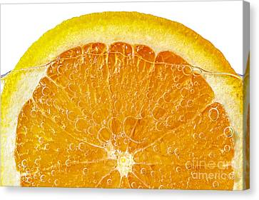 Orange In Water Canvas Print
