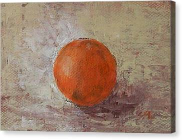 Canvas Print featuring the painting Orange by Jane  See