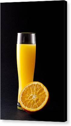 Orange Juice Canvas Print by Gergana Chakalova
