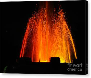Canvas Print featuring the photograph Orange Lava by Clayton Bruster