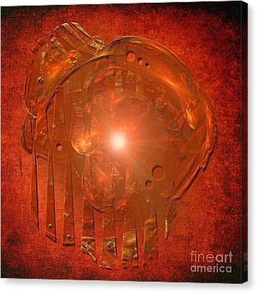 Canvas Print featuring the digital art Orange Light by Alexa Szlavics