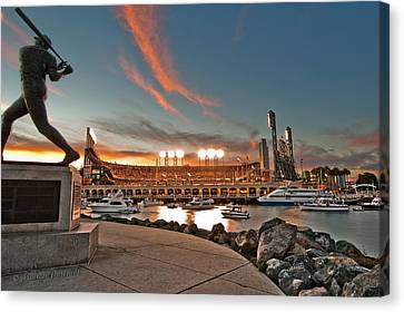 Orange October 2012 Celebrates The San Francisco Giants Canvas Print by Jorge Guerzon