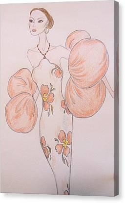 Orange Organza Canvas Print by Christine Corretti