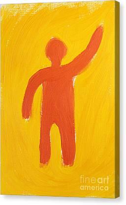 Orange Person Canvas Print by Igor Kislev