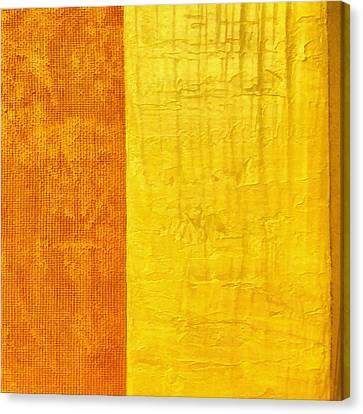 Orange Pineapple Canvas Print by Michelle Calkins