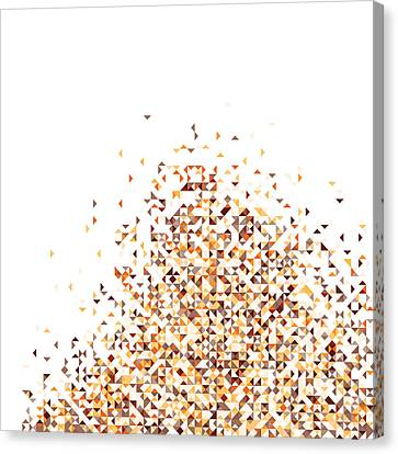 Repeat Canvas Print - Orange Pixels by Mike Taylor