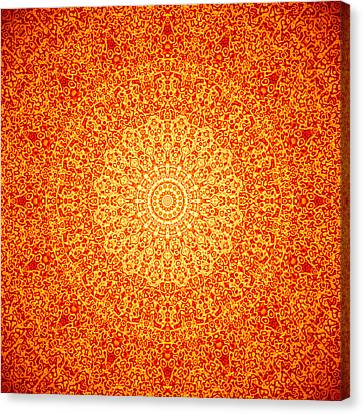 Orange Quasicrystal Canvas Print by Dan Gries