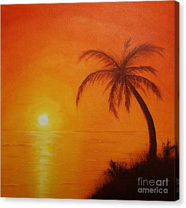 Orange Reflections Canvas Print