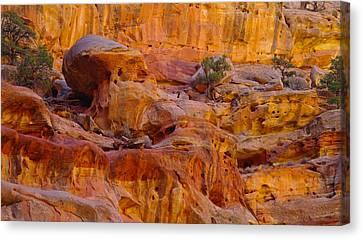 Orange Rock Formation Canvas Print by Jeff Swan