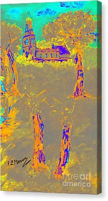 Italian Landscape Canvas Print - Orange Shadows by Loredana Messina