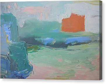 Orange Ship Canvas Print