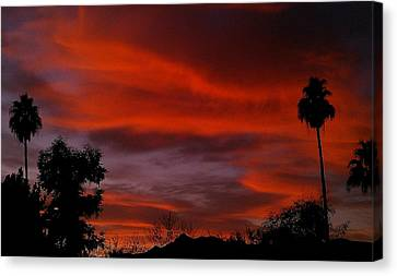 Canvas Print featuring the photograph Orange Sky by Chris Tarpening
