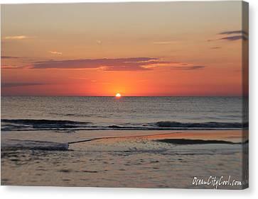 Orange Sky Dawn Canvas Print by Robert Banach