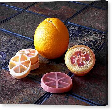 Orange Slices Soap Canvas Print