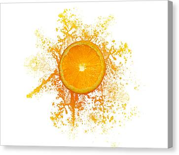 Orange Splash Canvas Print by Aged Pixel