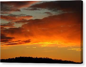 Orange Sun Canvas Print by Neal Eslinger