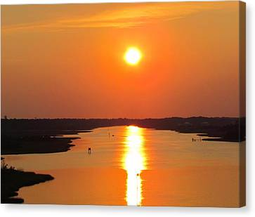 Canvas Print featuring the photograph Orange Sunset by Cynthia Guinn