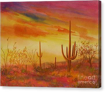 Canvas Print - Orange Sunset by Summer Celeste