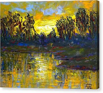 Orange Swamp Canvas Print by Kenny Henson