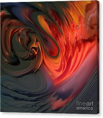Orange Swirls Canvas Print by Kimberly Lyon