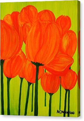 Orange Tulip Pops Canvas Print