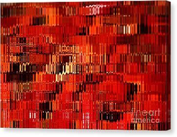 Orange Under Glass Abstract Canvas Print by Carol Groenen