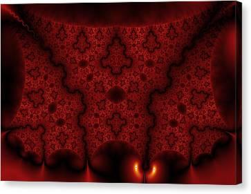 Orange Veil Canvas Print by Mark Eggleston
