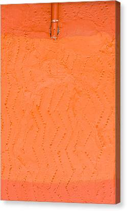 Orange Wall Canvas Print by Tom Gowanlock
