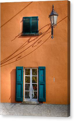 Canvas Print featuring the photograph Orange Wall  by Uri Baruch