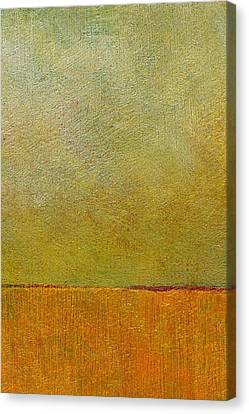 Orange With Red And Gold Canvas Print by Michelle Calkins