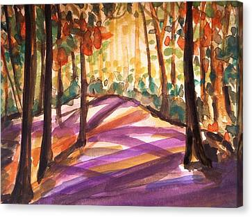 Orange Woods Canvas Print