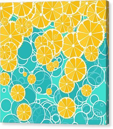 Oranges And Bubbles Canvas Print