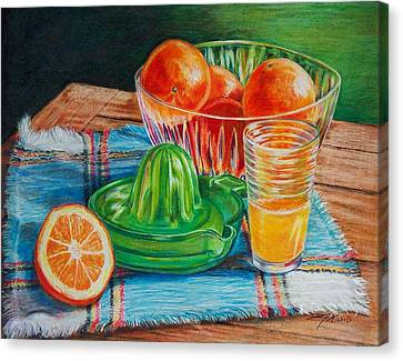 Oranges Canvas Print by Joy Nichols