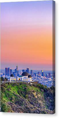 Orangesicle Griffith Observatory Canvas Print