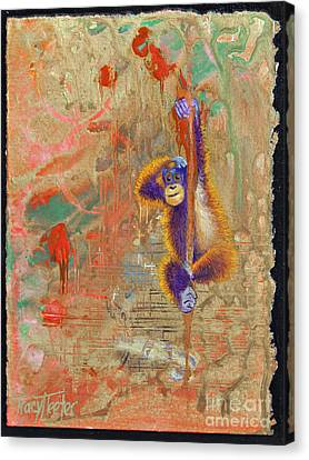 Orangutan Abstract Canvas Print by Tracy L Teeter