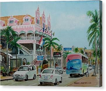 Oranjestad Aruba Canvas Print by Frank Hunter