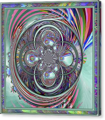 Fractal Orbs Canvas Print - Orb-fuscation by Wendy J St Christopher