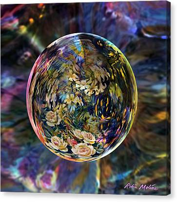 Orb Of Roses Past Canvas Print by Robin Moline