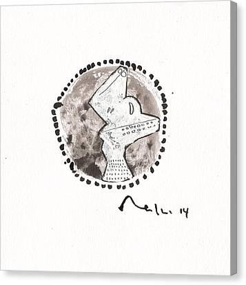 Sumi Ink Canvas Print - Orbis No. 13  by Mark M  Mellon