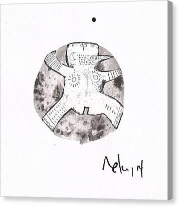 Sumi Ink Canvas Print - Orbis No. 15 by Mark M  Mellon