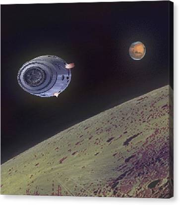 Orbit Canvas Print by Andrew Morican
