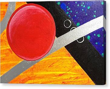 Orbital Chaos  Canvas Print by Mary Inouye