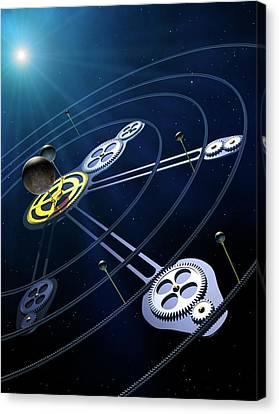 Orbital Resonances In The Pluto System Canvas Print