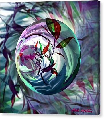 Orbiting Cranberry Dreams Canvas Print by Robin Moline