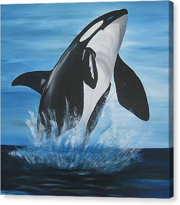 Orca Canvas Print by Cathy Jacobs
