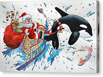 Orca Santa Canvas Print by James Williamson