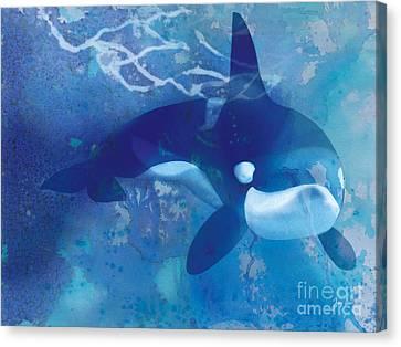 Orca, Whale Canvas Print by Tracy Herrmann