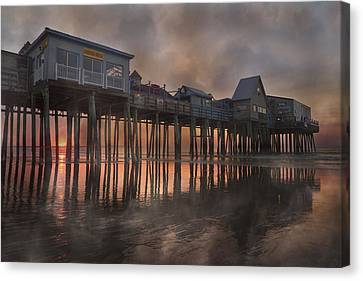 Orchard Beach Glorious Morning Canvas Print by Betsy Knapp